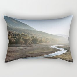 Barrea lake without water, Abruzzo National Park, Italy Rectangular Pillow