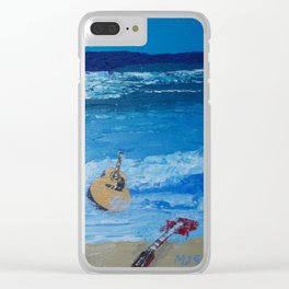 Rhythm of the Sea Clear iPhone Case