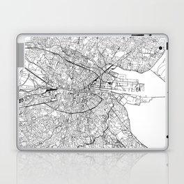 Dublin White Map Laptop & iPad Skin