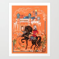 arab Art Prints featuring Arab Prince by Elina_Ch