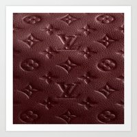 lv Art Prints featuring Burgundy LV by Luxe Glam Decor