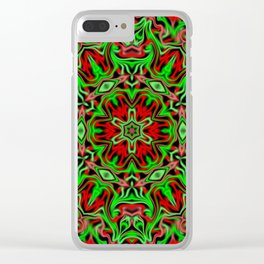 Christmas kaleidoscope pattern Clear iPhone Case