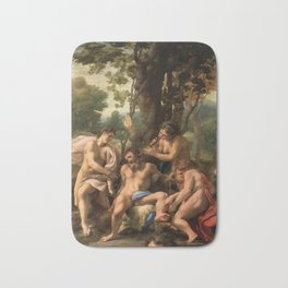 "Antonio Allegri da Correggio ""Allegory of the Vices"" Bath Mat"