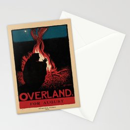 retro poster overland for august. 1895 Stationery Cards