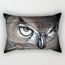 Owl drawing bird art eagle Rectangular Pillow