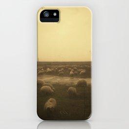 | sheep at dusk | iPhone Case