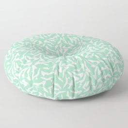 Shoes White on Mint Floor Pillow
