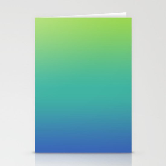 GREEN -> TEAL -> BLUE FADE Stationery Cards