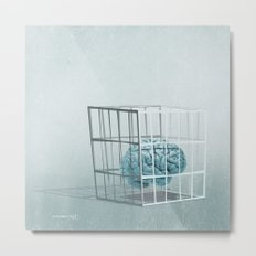 caged... Metal Print