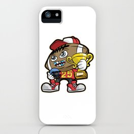 American FOOTBALL CHAMPION Trophy Son Present iPhone Case