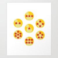 dragonball z Art Prints featuring Dragonball by matcha-tiger