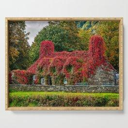 Autumn Tea House Llanrwst Wales Serving Tray