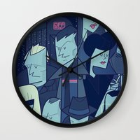 blade runner Wall Clocks featuring Blade Runner by Ale Giorgini