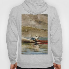 The Red Canoe 1884 By WinslowHomer | Reproduction Hoody