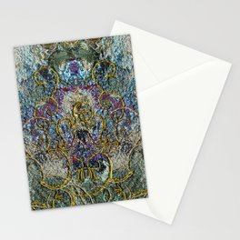 Fantasy in blue and gold Stationery Cards