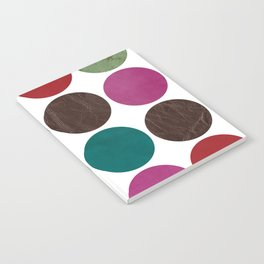 leather dots on white Notebook