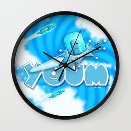 Youm in blue! Wall Clock
