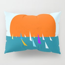 Minimal regatta in the sun Pillow Sham