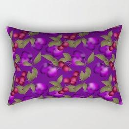 Fruit market . Plum and cherry . Rectangular Pillow