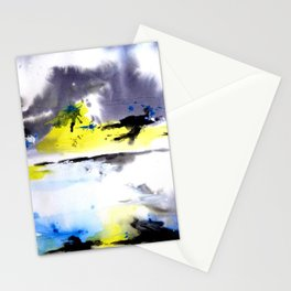 Watercolor Abstract Horizons Stationery Cards