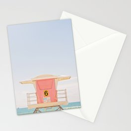 Lifeguard Tower. No. 6 Stationery Cards