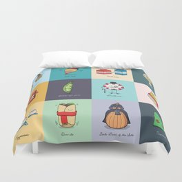 Punny Doodle Collection Duvet Cover