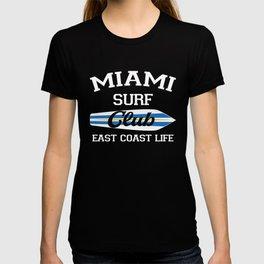 Miami Surf Club Vintage Retro Surfing Beach T-shirt
