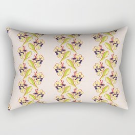 Orchid Vintage Print, 1940s Polynesian Light Pink Floral Rectangular Pillow