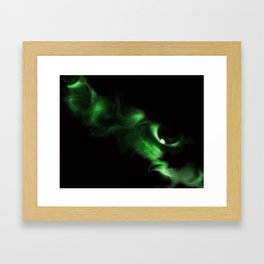 Green Eyes Framed Art Print