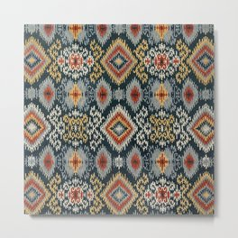 Village Ikat Metal Print