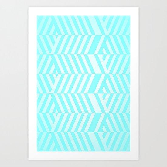 Stripes upon stripes Art Print