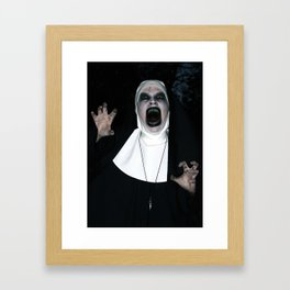 Valak Screaming Framed Art Print