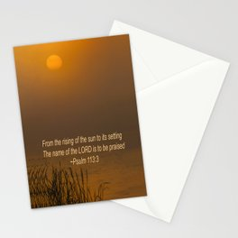Psalm 113:3 Sunrise Stationery Cards