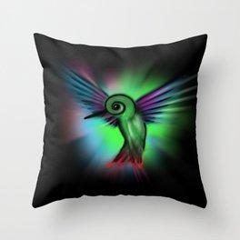 Hummingbird Color Cosmic Throw Pillow
