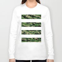 camo Long Sleeve T-shirts featuring Camo by angelasoto
