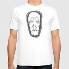 MS13 White MEDIUM Mens Fitted Tee
