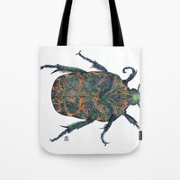 beetle Tote Bags featuring Beetle by MSRomeiro