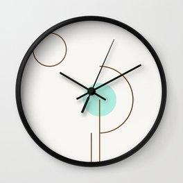 Balm 03 // ABSTRACT GEOMETRY MINIMALIST ILLUSTRATION Wall Clock