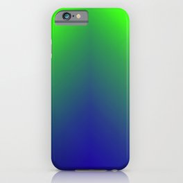 Go Green , Emerald  To Neon Gradients  iPhone Case