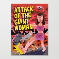 Attack of the Giant Woman Canvas Print