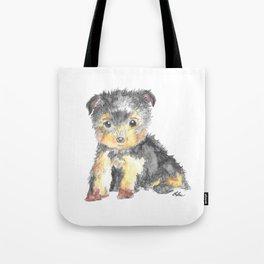 Yorkie Pup Tote Bag