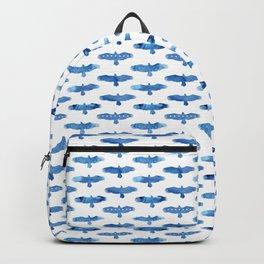American eagles. Pattern. Watercolor. Backpack