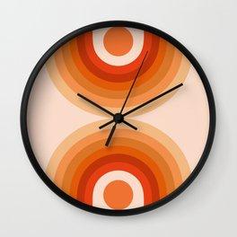 Abstraction_SUN_Rainbow_Minimalism_006 Wall Clock