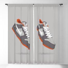 Classic Sneaker Flat Illustration Blackout Curtain