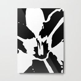 Orange Daylily in Black and White Metal Print