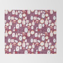 Alice in Wonderland - Purple Madness Throw Blanket