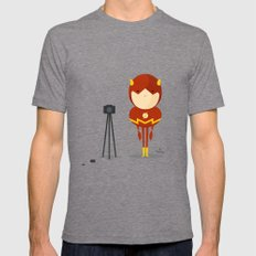 My camera hero! Mens Fitted Tee LARGE Tri-Grey