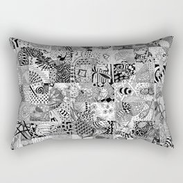Doodling Together #3 Rectangular Pillow