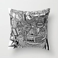 Geometric Mutations Throw Pillow