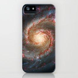 Whirlpool Galaxy and Companion Galaxy iPhone Case